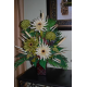 Green and Beige Silk Flowers Arrangement