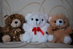 6-inch Teddy Bear color varies (white, brown or light brown) +$5.00