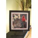 "17"" x 17"" Framed Cardinal Picture with Stand"